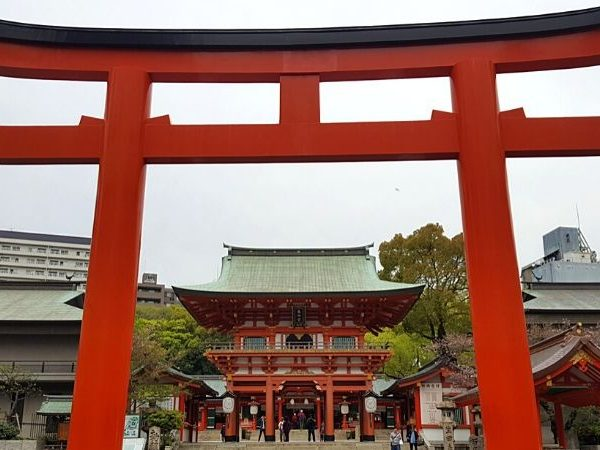 The perfect Kobe day trip includes a visit to Ikuta Shrine.