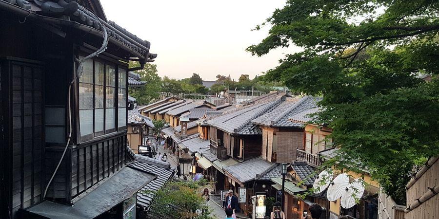 A quaint street near Kiyomizudera Temple