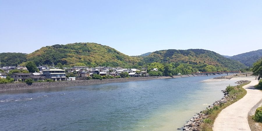 Uji-gawa River in Uji, Japan
