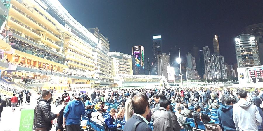 Happy Wednesday is a social event at Happy Valley Racecourse in HK
