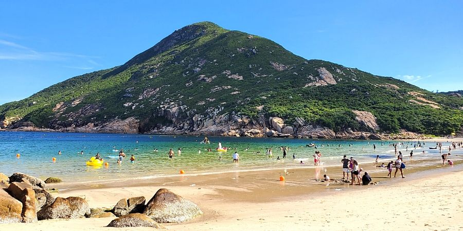 Shek O Beach in Hong Kong is the perfect spot for a little staycation