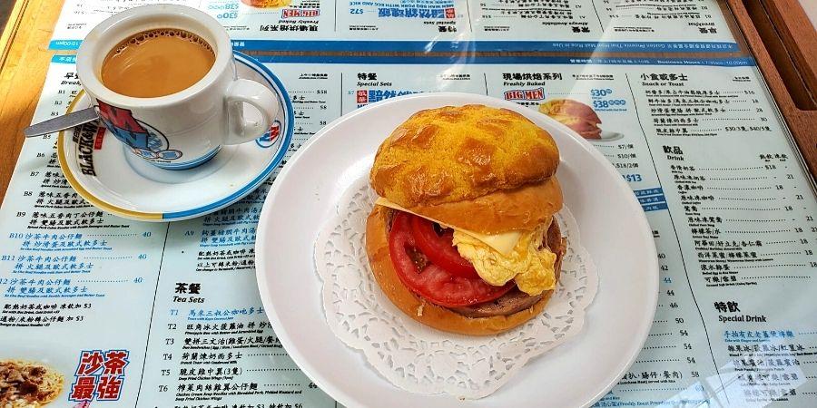 """""""Big men"""" sandwich at Men Wan Bing Teng"""