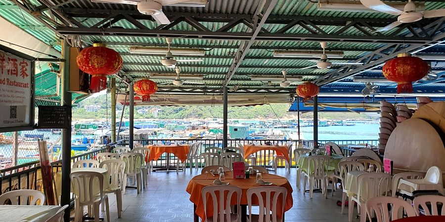 Seaside restaurant at Sok Kwu Wan
