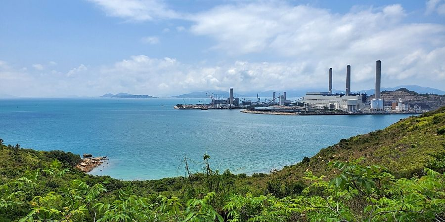 View of western side of Lamma Island including HK Electric's Lamma Power Station