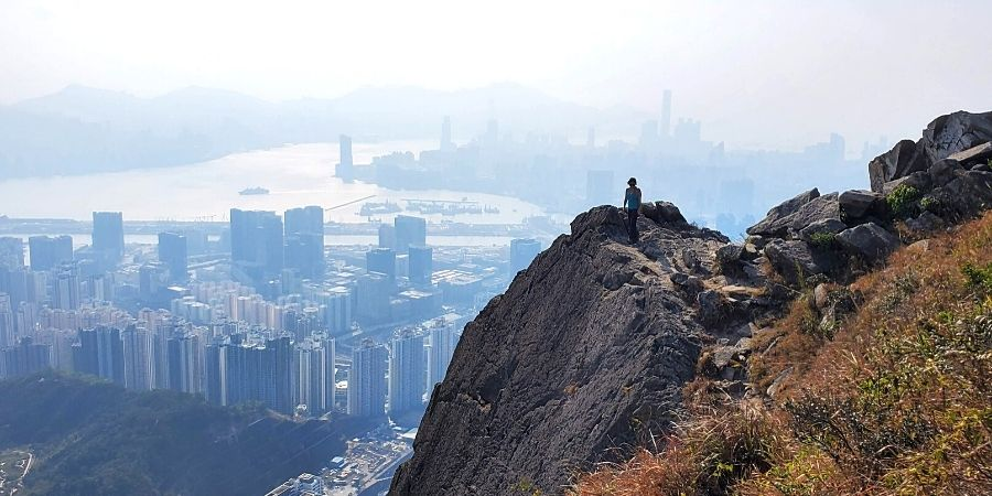 See panoramic views of HK safely by hiking the Kowloon Peak trail via the safe and scenic route.