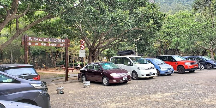 Parking lot of Ma On Shan Country Park
