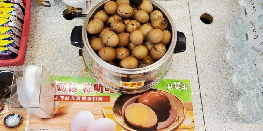 Taiwanese tea egg is a staple food in Taiwan! You can find them anywhere in Taiwan, including 7-Eleven.