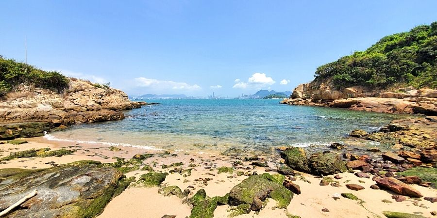 One of the best things to do in Peng Chau is to explore secluded beaches around the island.