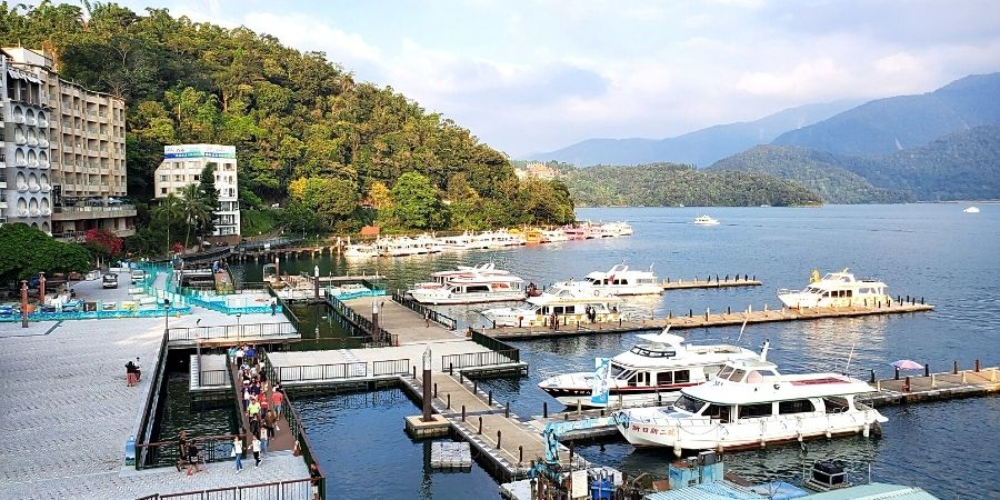 A visit to Sun Moon Lake must include a 1-day excursion on a ferry boat
