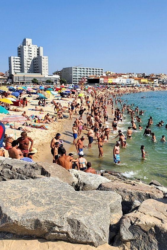 Busiest part of Praia da Baía
